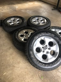 2013 Jeep Wrangler JK stock rims with tires (5 Silver Spring, 20910