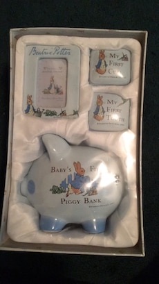 """Baby's Firsts"" gift set, Beatrix Potter"