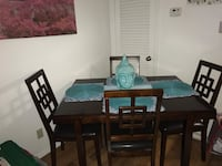 rectangular brown wooden table with six chairs dining set San Antonio, 78231