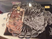 clear cut glass punch bowl Marshall, 75672