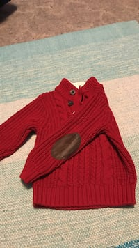 Red cabled knitted sweater East Stroudsburg, 18301