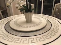 round white and gray marble table Whitby, L1P 0A4
