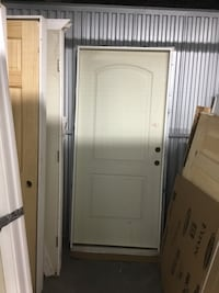 "36/80"" 2 PANEL ARCH PREHUNG APT DOOR"