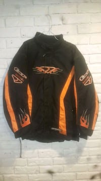 black and orange zip-up jacket Fergus, N1M 2R5