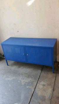 blue wooden 2-door cabinet Pueblo, 81003