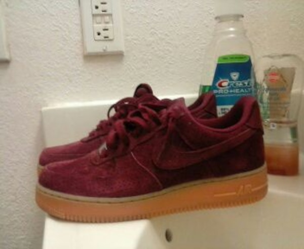 check-out c724c 973d3 maroon and gum sole nike air force 1 low