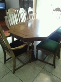 rectangular brown wooden table with four chairs dining set San Jacinto, 92582