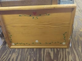Hand painted wood tray