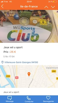Capture d'écran du disque nintendo wii sports club Villeneuve-Saint-Georges, 94190