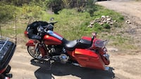 Red and black touring motorcycle North Scituate, 02857