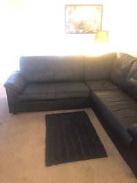 Blacks leather sectional Las Vegas, 89169