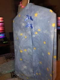 blue and yellow star print textile 2179 mi