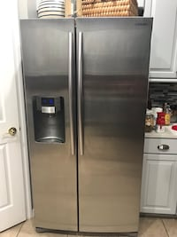 stainless steel side-by-side refrigerator with dispenser Orlando, 32829