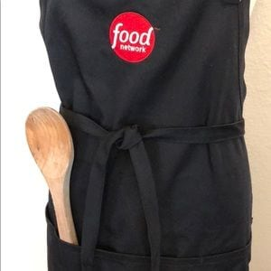 Smart & Dashing Food Network TV Black APRON 62c5f8ff-8902-413c-b87d-298dd4c353da