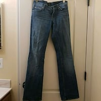 7 for all Mankind bootcut jeans, 25 Ashburn, 20148