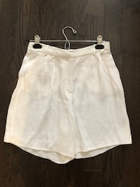 Zara white silk shorts women's size small Aurora, L4G 6R6