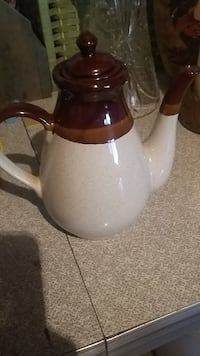 white and brown ceramic teapot Boone