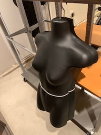 Female hanging plastic body forms