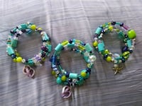 Glass bead memory bracelets with shell charm $15 each Port Charlotte, 33948
