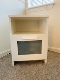 White single drawer nightstand