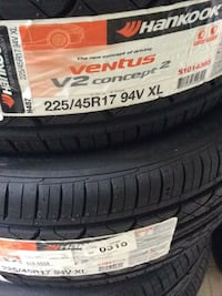 four black car tires set Stephens City, 22655
