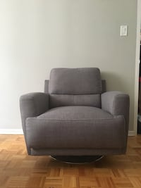 Brand new Gray fabric sofa chair with ottoman Toronto, M2N