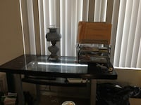 Glass computer desk (lamp and papers not included) Fullerton, 92831