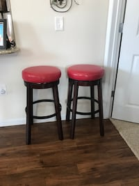 two black-and-red bar stools Fort Worth, 76177
