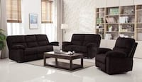 CLEARANCE] Andrew Chocolate 3-Piece Reclining Living Room Set Houston, 77036