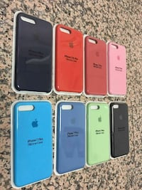 colores surtidos del lote de fundas de silicona para iPhone 7 Plus