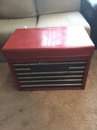 red and black tool drawer