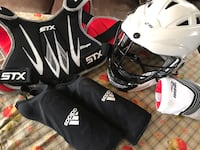 Lacrosse helmet, chest pad, shin and elbow guards. Alexandria, 22310