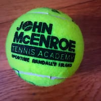 Martina Hingis John McEnroe Dual Signed Tennis Ball authentic Wilmington, 19804
