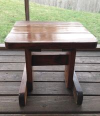Square brown wooden side table Claymont, 19703