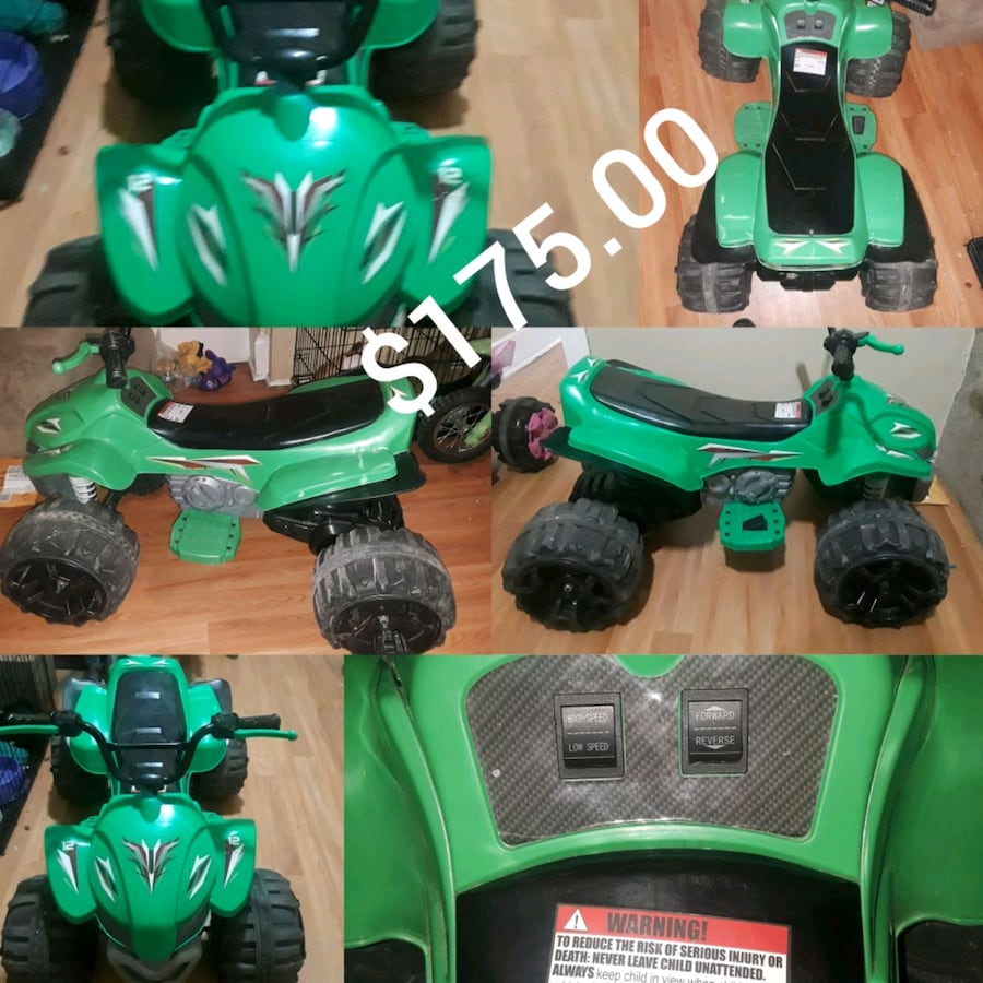Green and black plastic toy