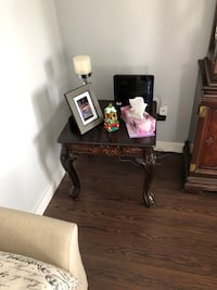 brown wooden side table with mirror Montréal, H1E 4C2