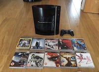 PS3 + 10 top games  Bourne End, SL8 5FN