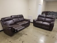 Leather new manual recliner sofa OR loveseat  Jacksonville, 32216