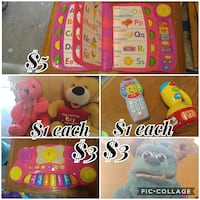 baby's assorted interactive toy photo collage Olivehurst, 95961