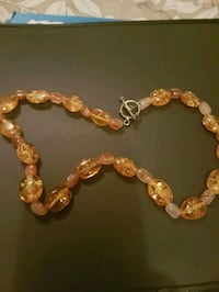 brown and silver beaded bracelet