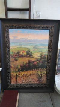 brown wooden framed painting of house Reedley, 93654