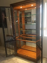 Wooden and Steal Display Cabinet