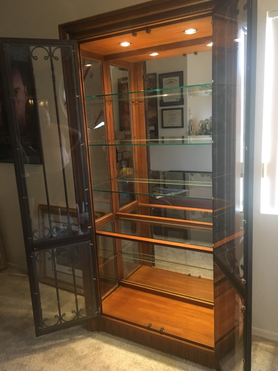 Wooden and Steal Display Cabinet  - Oro Valley