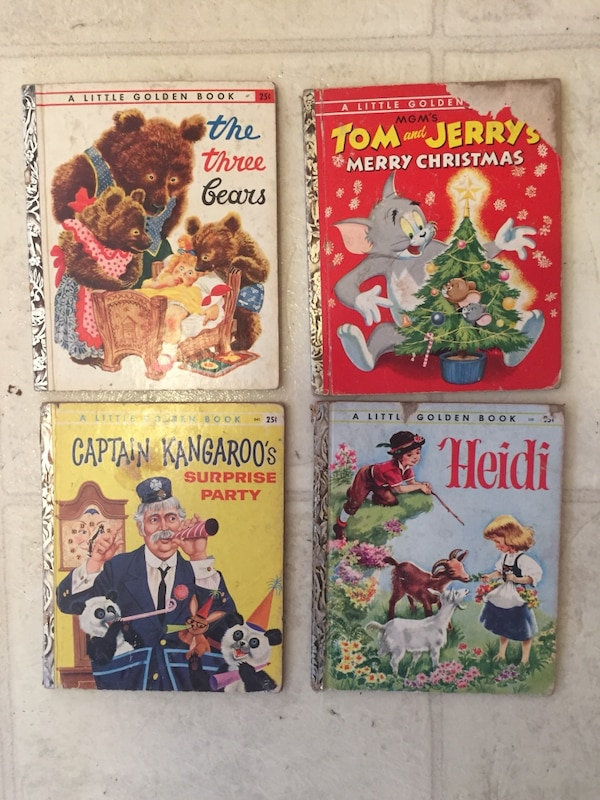 Rare Little Golden Book Lot Of 4 Incl Capt Kangaroo 1948-1954 See Details   Condition is Acceptable  Shipped with USPS Media Mail, please see pics and