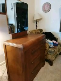 brown wooden dresser with mirror Dundalk, 21222