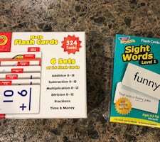 Math and reading flash cards