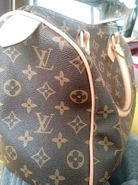 black and brown Louis Vuitton leather handbag Toronto, M1B