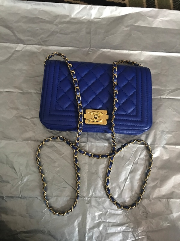 4fdd213e4d44 Used blue Chanel quilted crossbody bag for sale in Richmond - letgo