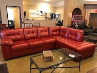 Red Bonded Leather Sectional By Ashley  Phoenix, 85018