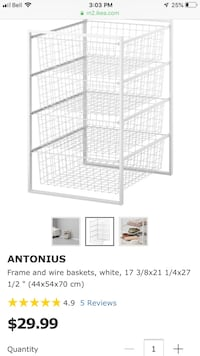 Antonius frame and baskets  I have 5 frames and 17 baskets all for only 75.00 or 15 each set Pitt Meadows, V3Y 1Y7
